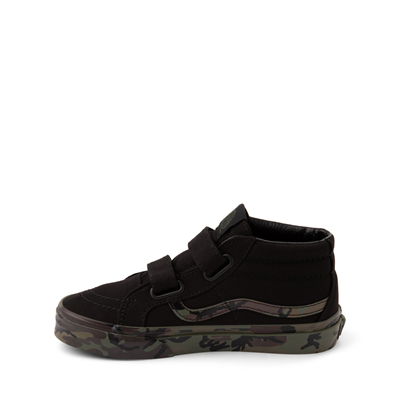 Alternate view of Vans Sk8 Mid V Skate Shoe - Little Kid - Black / Camo