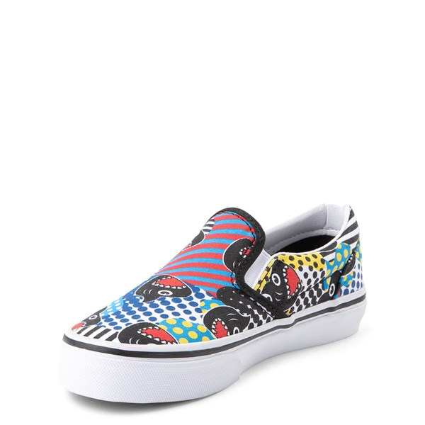 alternate view Vans x Discovery's Shark Week Slip On Skate Shoe - Little Kid - MultiALT3