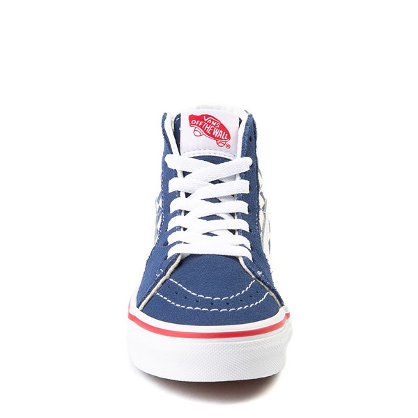 alternate view Vans Sk8 Hi BMX Checkerboard Skate Shoe - Little Kid / Big Kid - Blue / WhiteALT4
