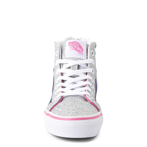 alternate view Vans Sk8 Hi Zip Unicorn Skate Shoe - Little Kid / Big Kid - Silver / MultiALT4