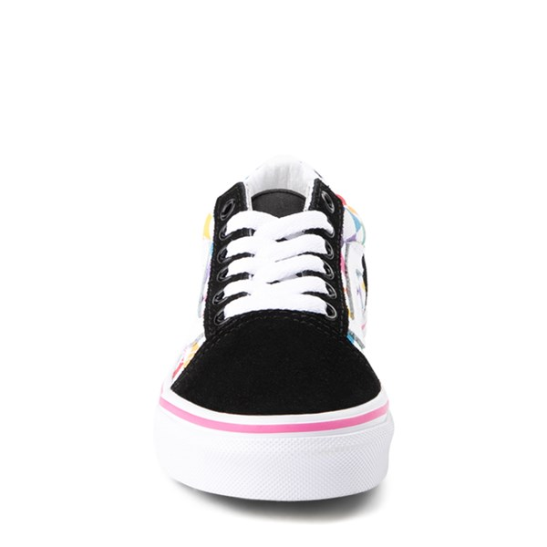 alternate view Vans Old Skool Rainbow Checkerboard Skate Shoe - Little Kid - Black / MultiALT4