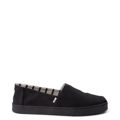 Main view of Mens TOMS Classic Cupsole Slip On Casual Shoe - Black