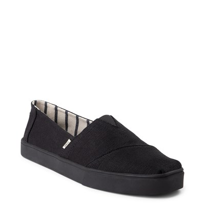 Alternate view of Mens TOMS Classic Cupsole Slip On Casual Shoe - Black