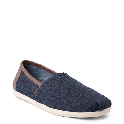 Alternate view of Mens TOMS Classic Slip On Casual Shoe - Navy