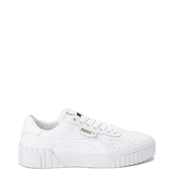 Womens Puma Cali Fashion Athletic Shoe - White / Gold