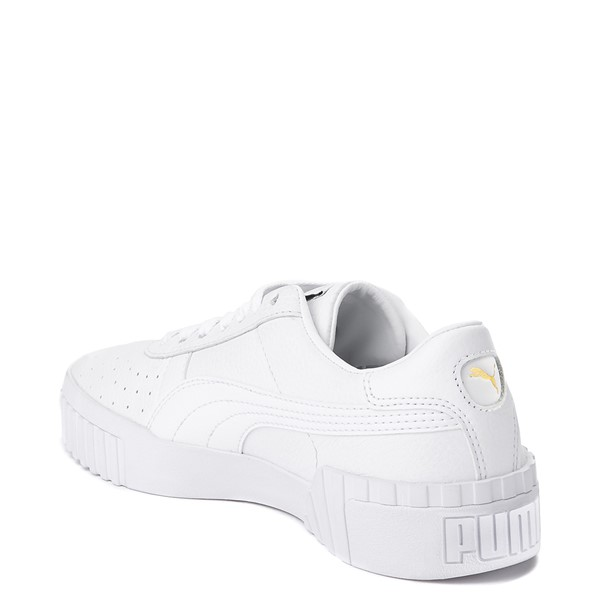 alternate view Womens Puma Cali Fashion Athletic Shoe - White / GoldALT1