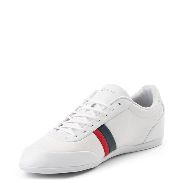alternate view Mens Lacoste Storda Athletic Shoe - WhiteALT3