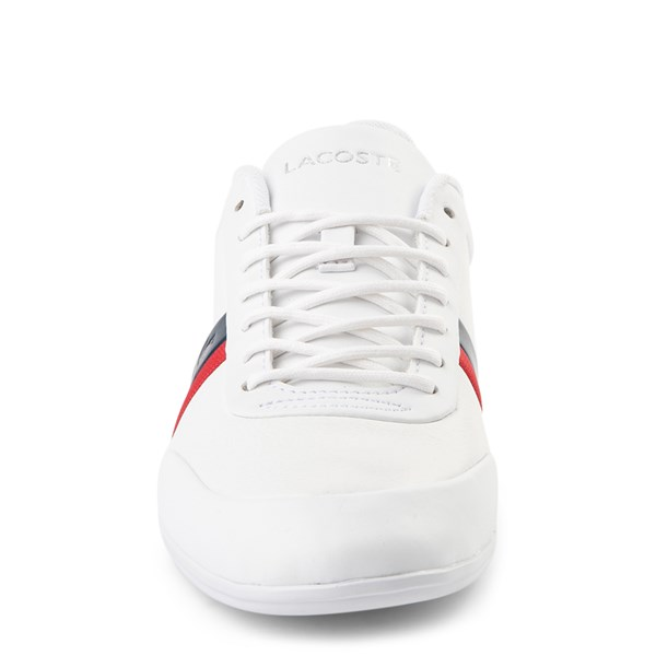 alternate view Mens Lacoste Storda Athletic Shoe - WhiteALT4