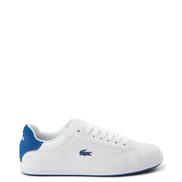 Main view of Womens Lacoste Graduate Athletic Shoe - White / Blue