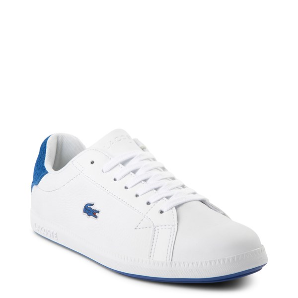 alternate view Womens Lacoste Graduate Athletic Shoe - White / BlueALT1
