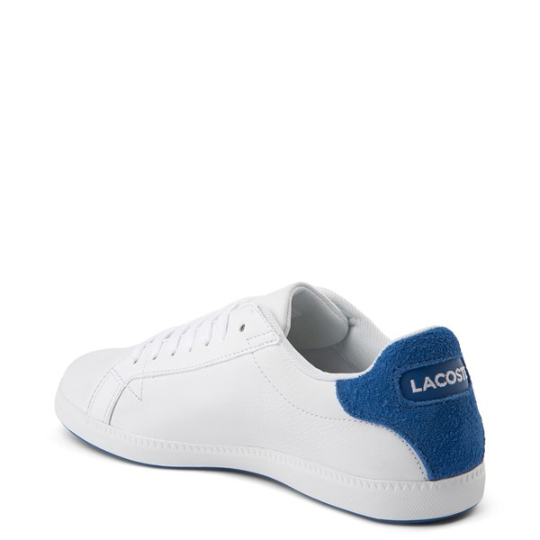 alternate view Womens Lacoste Graduate Athletic Shoe - White / BlueALT2