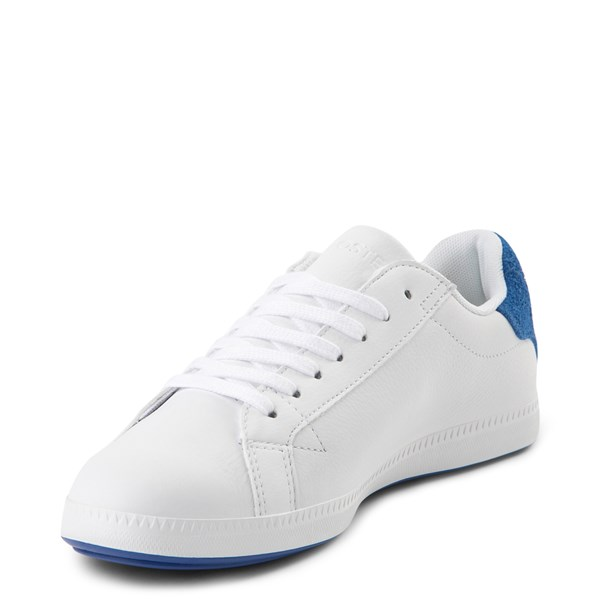 alternate view Womens Lacoste Graduate Athletic Shoe - White / BlueALT3
