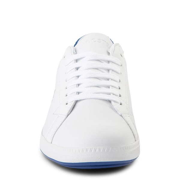 alternate view Womens Lacoste Graduate Athletic Shoe - White / BlueALT4