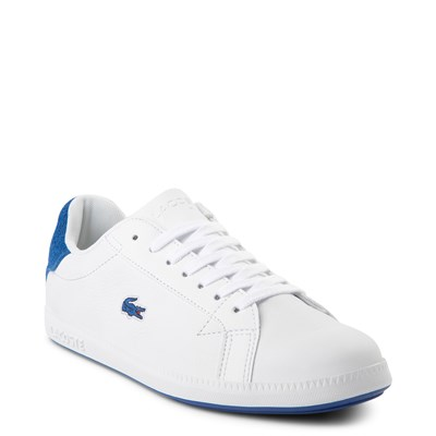 Alternate view of Womens Lacoste Graduate Athletic Shoe - White / Blue