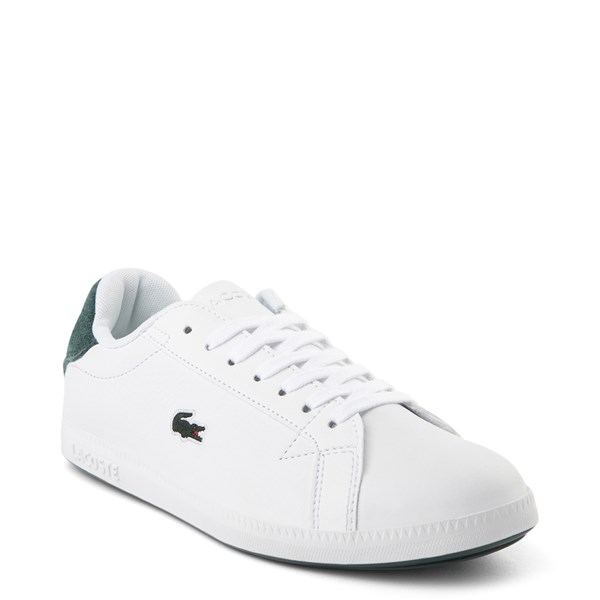 alternate view Womens Lacoste Graduate Athletic Shoe - White / Dark GreenALT1