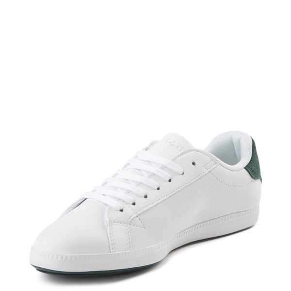 alternate view Womens Lacoste Graduate Athletic Shoe - White / Dark GreenALT3