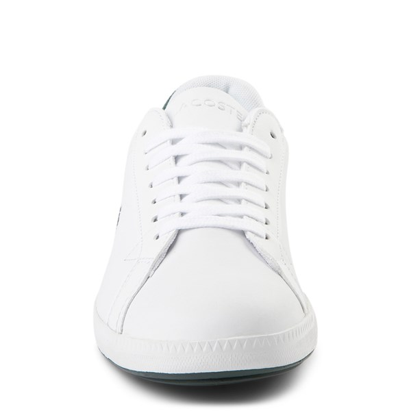 alternate view Womens Lacoste Graduate Athletic Shoe - White / Dark GreenALT4