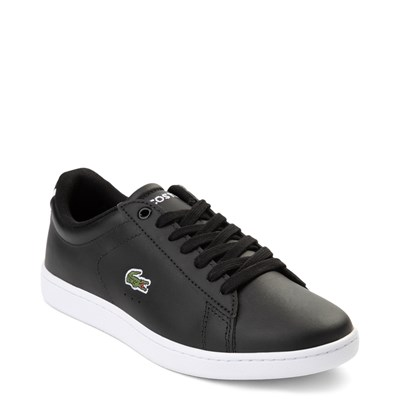 Alternate view of Womens Lacoste Carnaby Athletic Shoe - Black / White