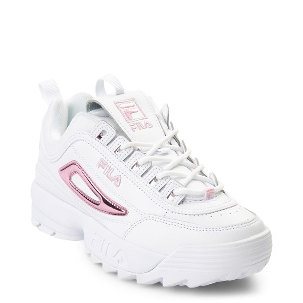 alternate view Womens Fila Disruptor 2 Athletic Shoe - White / PinkALT1