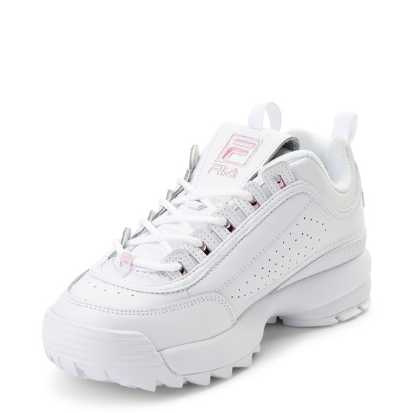 alternate view Womens Fila Disruptor 2 Athletic Shoe - White / PinkALT3