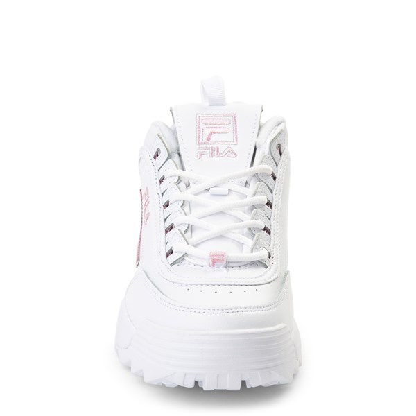 alternate view Womens Fila Disruptor 2 Athletic Shoe - White / PinkALT4