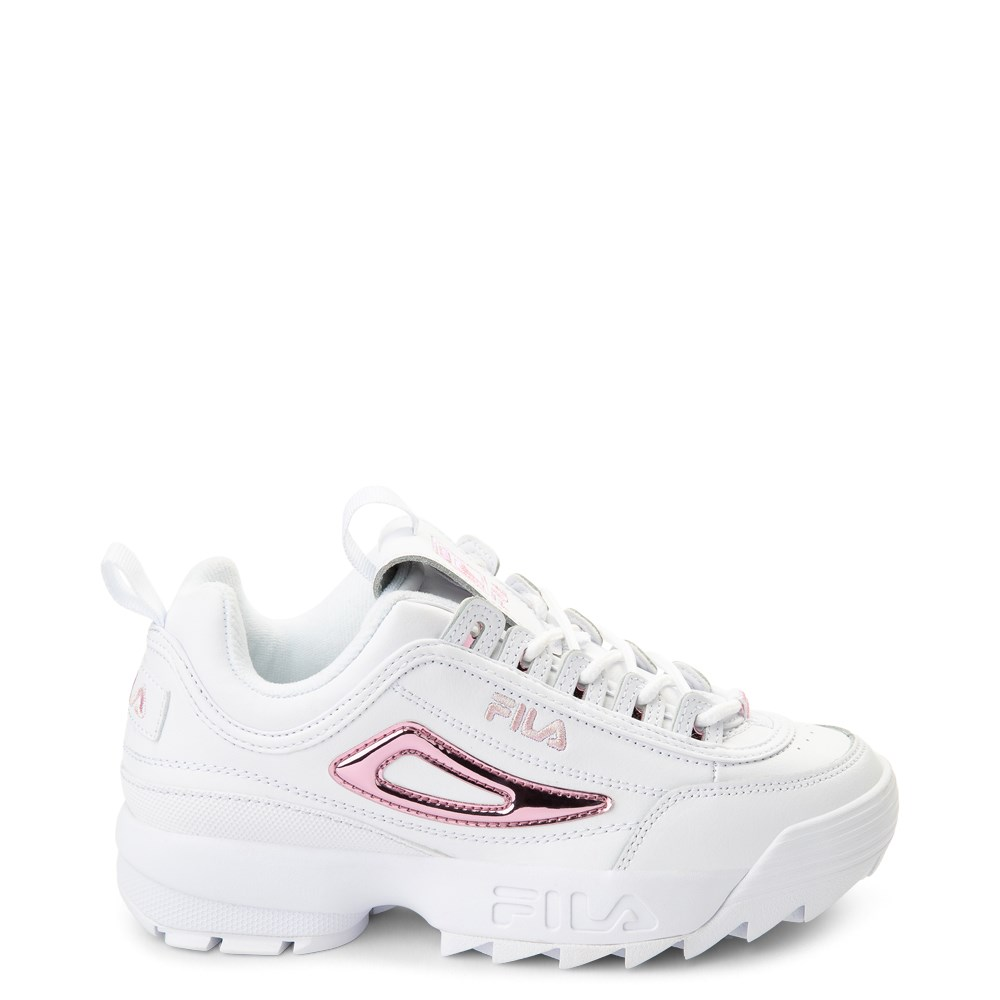 Womens Fila Disruptor 2 Athletic Shoe - White / Pink