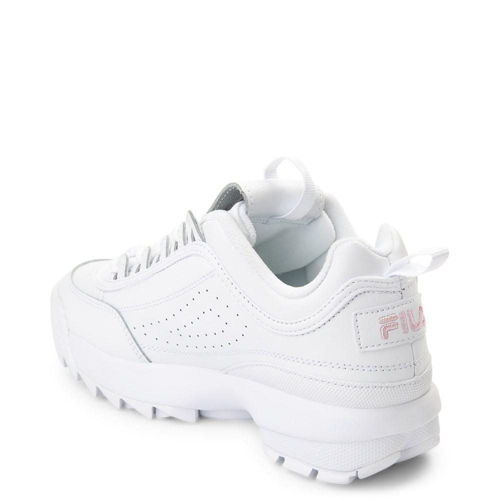 Womens Fila Disruptor 2 Athletic Shoe White Pink