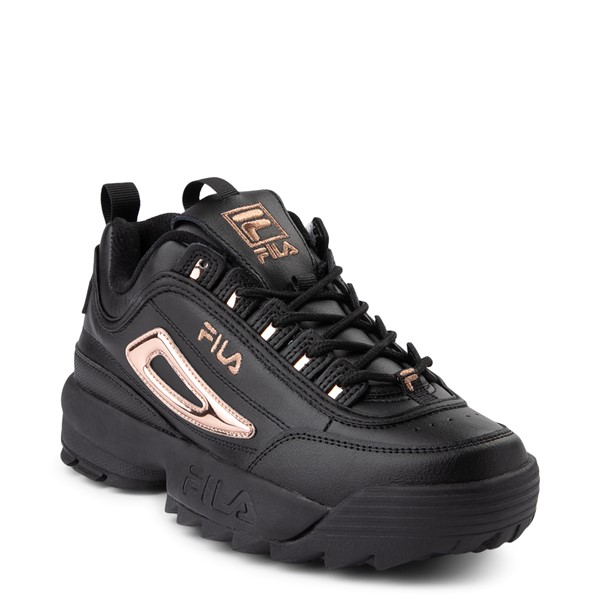 alternate view Womens Fila Disruptor 2 Athletic Shoe - Black / Rose GoldALT5