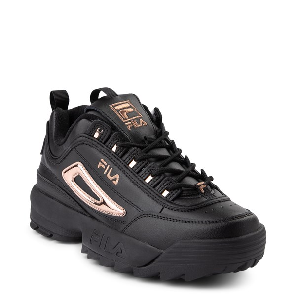 alternate view Womens Fila Disruptor 2 Athletic Shoe - Black / Rose GoldALT1