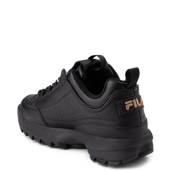 alternate view Womens Fila Disruptor 2 Athletic Shoe - Black / Rose GoldALT2