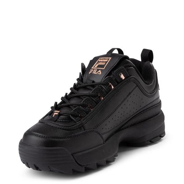 alternate view Womens Fila Disruptor 2 Athletic Shoe - Black / Rose GoldALT3