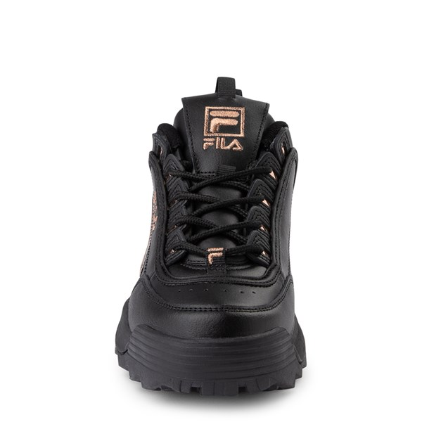 alternate view Womens Fila Disruptor 2 Athletic Shoe - Black / Rose GoldALT4