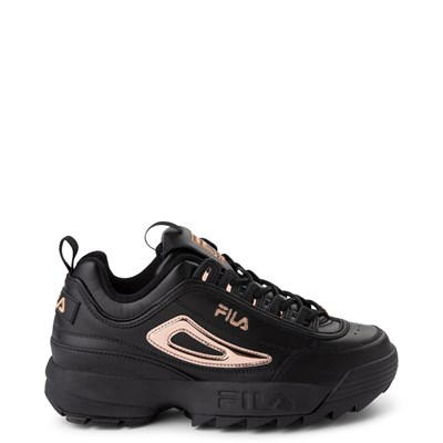 Main view of Womens Fila Disruptor 2 Athletic Shoe - Black / Rose Gold