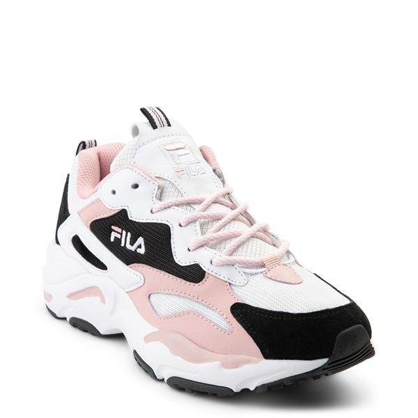 alternate view Womens Fila Ray Tracer Athletic Shoe - White / Black / PinkALT1