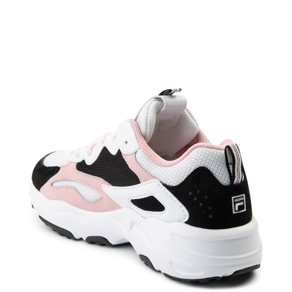 alternate view Womens Fila Ray Tracer Athletic Shoe - White / Black / PinkALT2