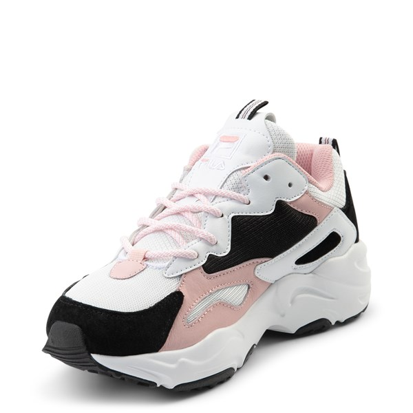 alternate view Womens Fila Ray Tracer Athletic Shoe - White / Black / PinkALT3