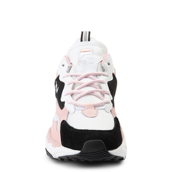 alternate view Womens Fila Ray Tracer Athletic Shoe - White / Black / PinkALT4