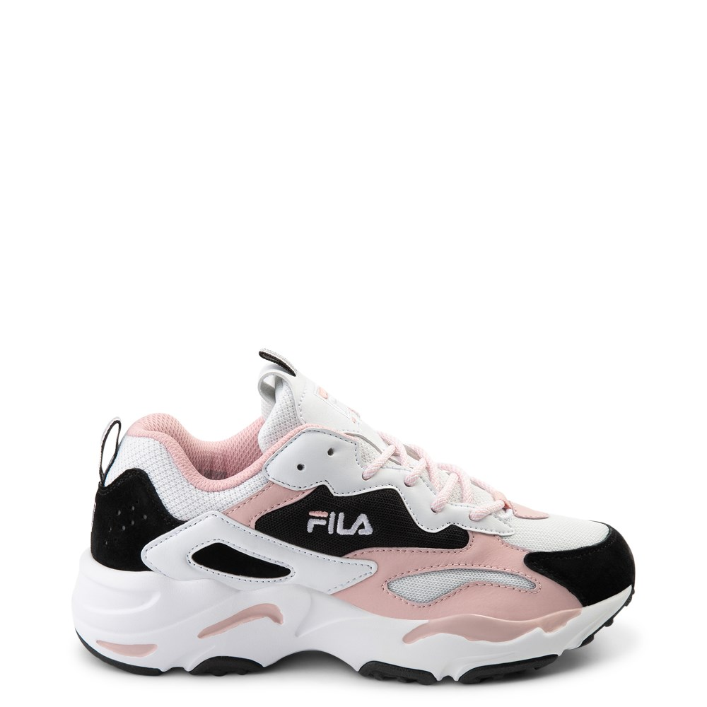 Womens Fila Ray Tracer Athletic Shoe - White / Black / Pink