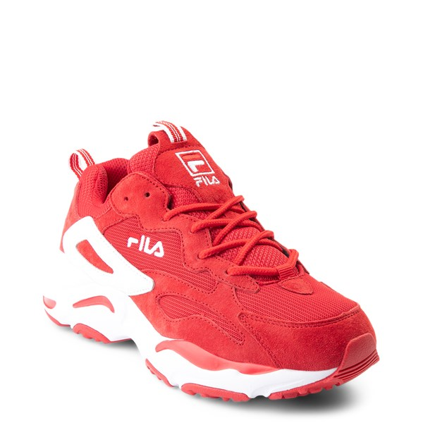 alternate view Womens Fila Ray Tracer Athletic Shoe - Red / WhiteALT1