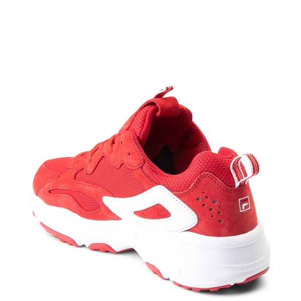 alternate view Womens Fila Ray Tracer Athletic Shoe - Red / WhiteALT2