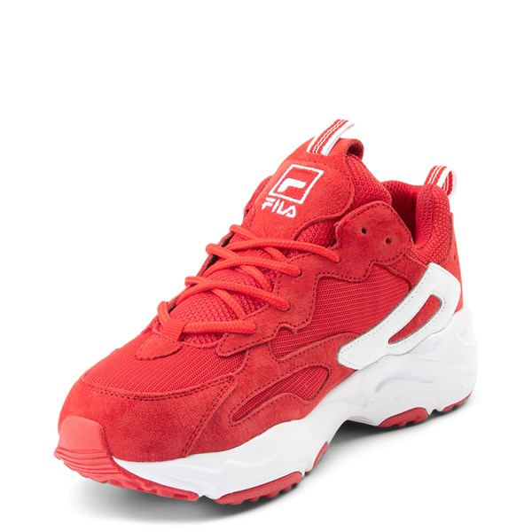 alternate view Womens Fila Ray Tracer Athletic Shoe - Red / WhiteALT3