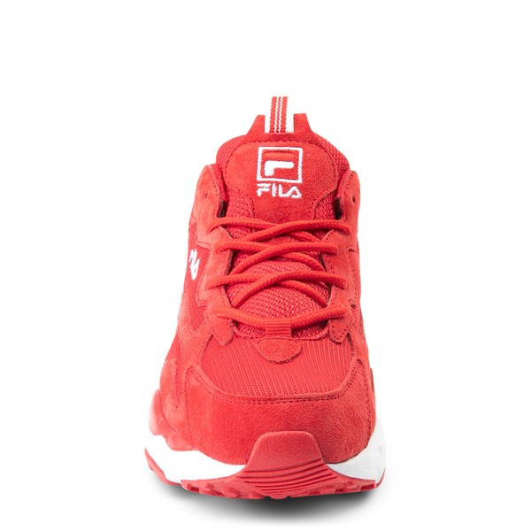alternate view Womens Fila Ray Tracer Athletic Shoe - Red / WhiteALT4