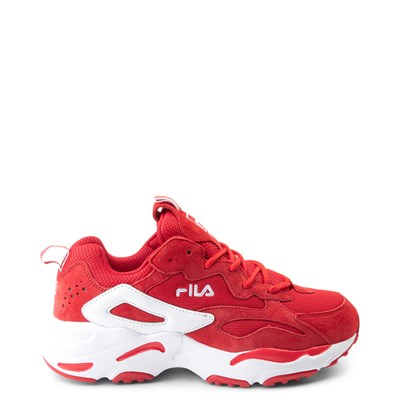 Main view of Womens Fila Ray Tracer Athletic Shoe - Red / White