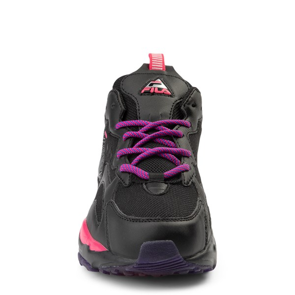 alternate view Womens Fila Ray Tracer Athletic Shoe - Black / Pink / PurpleALT4