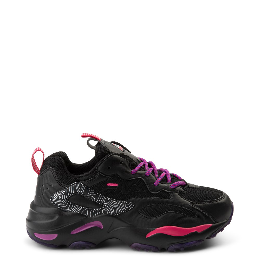 Womens Fila Ray Tracer Athletic Shoe - Black / Pink / Purple