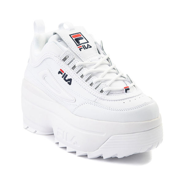 alternate view Womens Fila Disruptor Platform Wedge Athletic Shoe - WhiteALT5