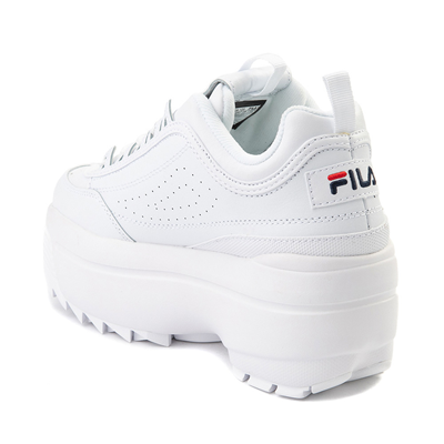 Alternate view of Womens Fila Disruptor Platform Wedge Athletic Shoe - White
