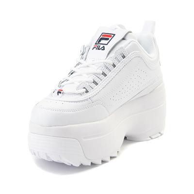 fila white platform shoes