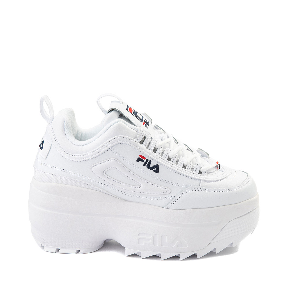 Womens Fila Disruptor Platform Wedge Athletic Shoe - White