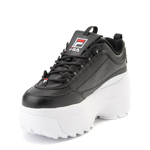 alternate view Womens Fila Disruptor Platform Wedge Athletic Shoe - BlackALT2